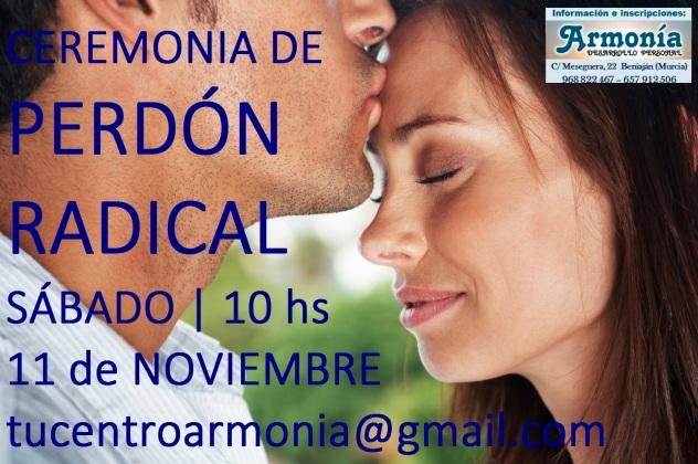 Sanación y desarrollo personal. Ceremonia de Perdón en el Centro Armonía en Beniaján Murcia