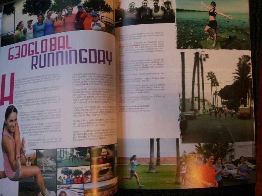 630globalrunningday en la revista Perú Deportes