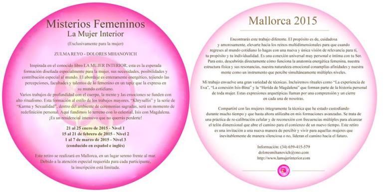 folleto misterios femeninos 2015 Mallorca