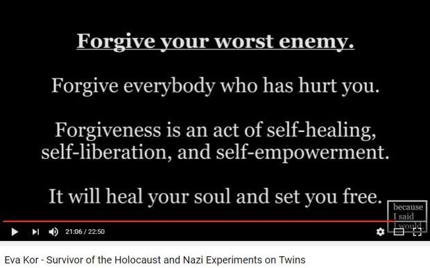 Palabras de Eva Kor sobre el perdón