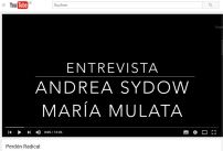 Andrea Sydow y María Mulata en una entrevista sobre el Perdón Radical