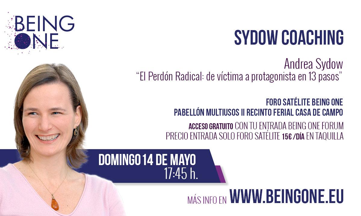 Andrea Sydow con el Perdón Radical en Madrid Being One Forum