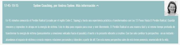 amor y perdón en trece pasos Perdón Radical con Andrea Sydow en Madrid Being One Forum