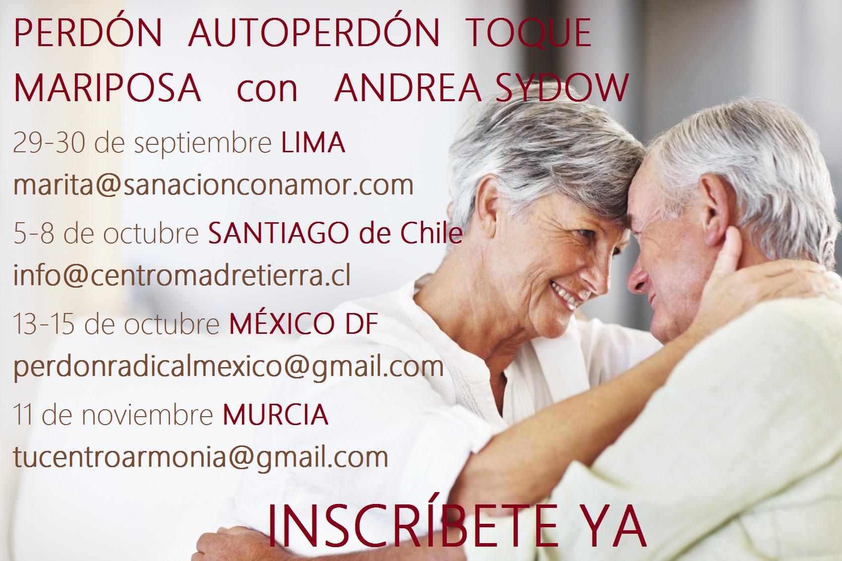 Talleres de perdón con Andrea Sydow Coach Holística Intuitiva