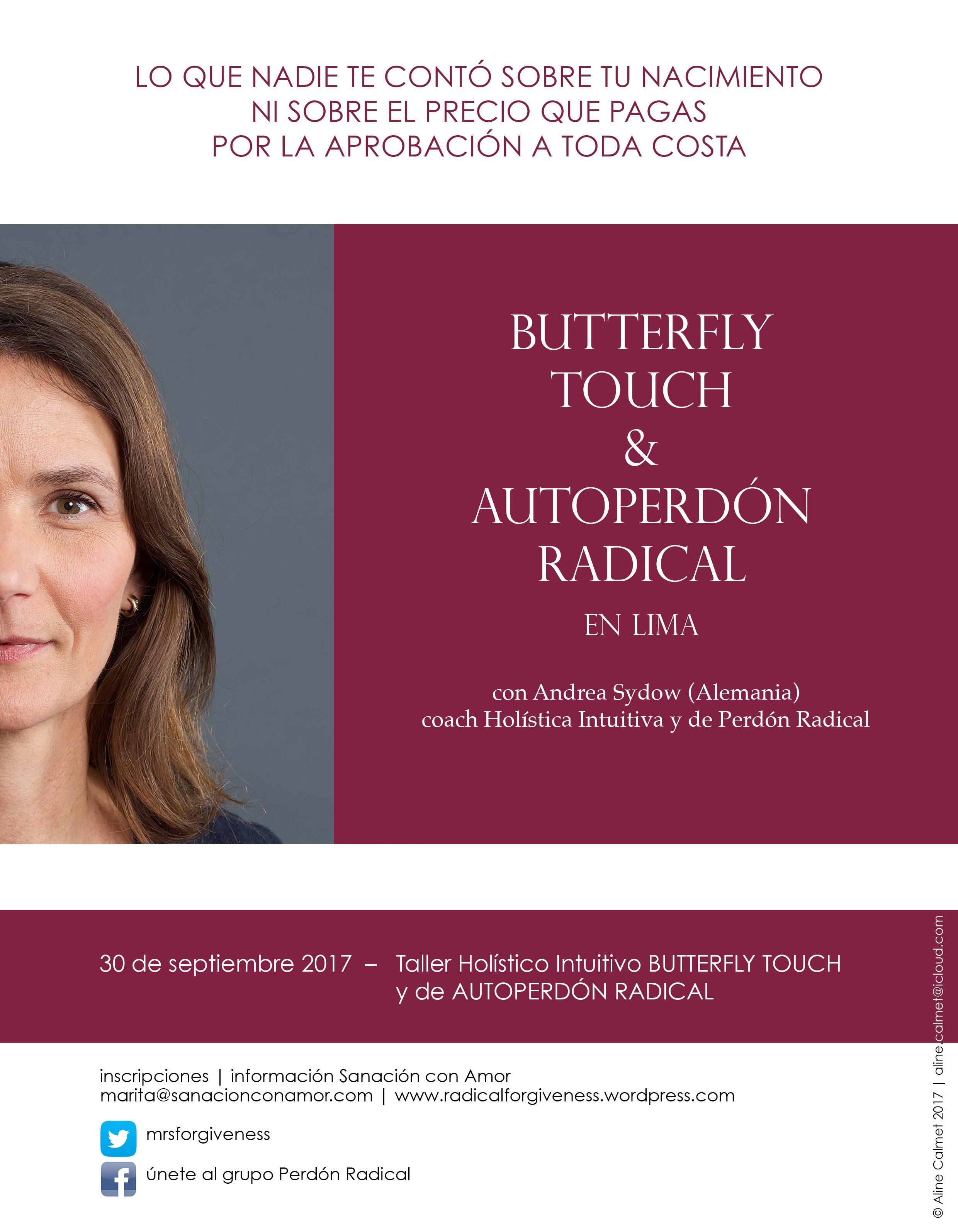 Taller con Andrea Sydow Butterfly Touch & Autoperdón Radical