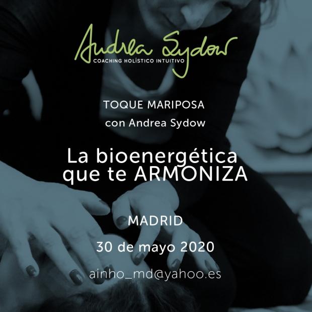 Taller de Toque Mariposa con Andrea Sydow bioenergética suave de acuerdo a Eva Reich