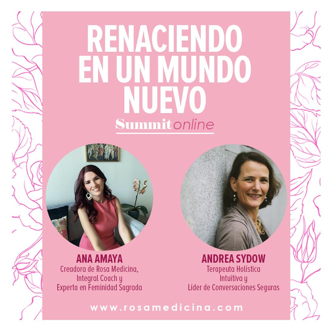 Ana Amaya y Andrea Sydow invitándote a que compartas tu luz